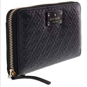 KATE SPADE Penn place embossed neda leather wallet